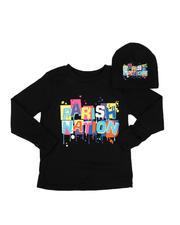 Boys - 2 Pc Parish Nation Drip Graphic Long Sleeve T-Shirt & Beanie Set (4-7)-2542609
