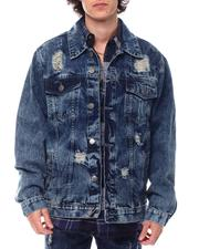 Denim Jackets - Rip and Repair Denim Jacket-2542442