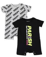 Parish - 2 Pack Allover Print & Logo Romper Set (Infant)-2541776