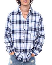 Button-downs - Oversized Plaid Ls Shirt-2542752