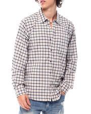 Button-downs - Contrast Stripe Plaid LS Shirt-2542771