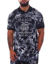 Hustle Gang - Black Tie Dye Glow Polo (B&T)-2540282