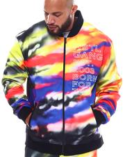Hustle Gang - Black Spectrum Tie Dye Jacket (B&T)-2540331
