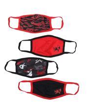 Face Coverings - 4Pk Ecko Face Masks (Unisex)-2541074