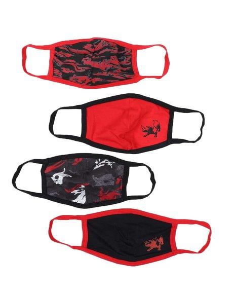 Ecko - 4Pk Ecko Face Masks (Unisex)