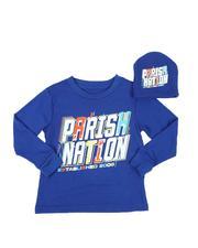 Parish - 2 Pc Parish Nation Graphic Long Sleeve T-Shirt & Beanie Set (2T-4T)-2543502