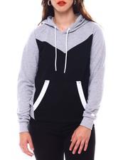 Fashion Lab - Color Block Tech Fleece Pullover-2543761