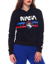 Fashion Lab - Nasa Chenille Patch Pullover Hoodie-2543793