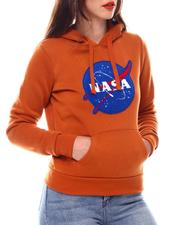Hoodies - Nasa Chenille Applique Pullover Hoodie-2543804