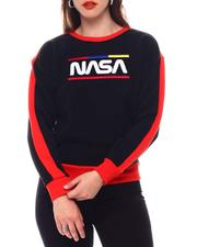 Tops - Nasa Chenille Patch Pullover Crew Neck-2543810