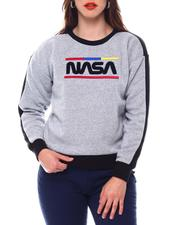 Tops - Nasa Chenille Patch Pullover Crew Neck-2543816