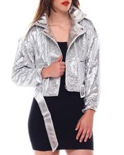Fall-Winter - Pu Leather Jacket W/Sequin-2543822
