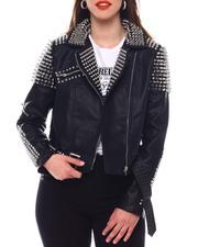Fashion Lab - Studded Pu Jacket-2544101