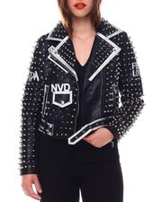 Fashion Lab - Studded Biker Jacket-2544111
