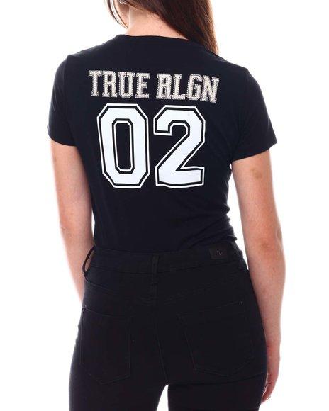 True Religion - SS Rlgn Deep V  Tee