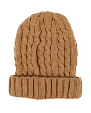 Fashion Lab - Thin Cable Knit Beanie-2544713