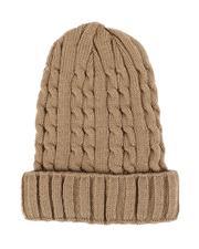 Fashion Lab - Thin Cable Knit Beanie-2544710