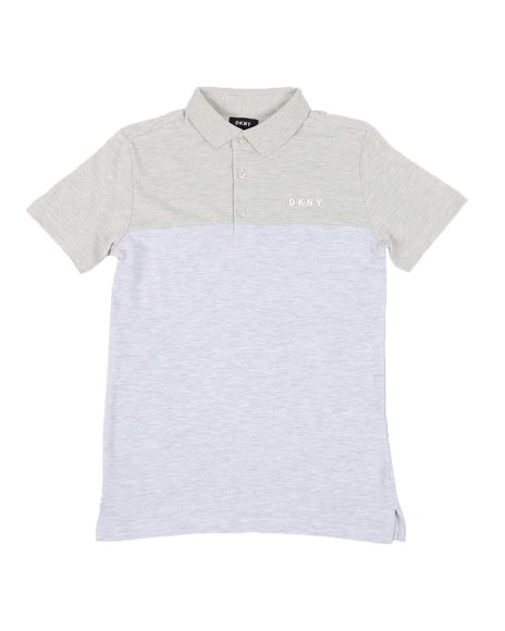 DKNY Jeans - Cut & Sew Logo Pique Polo (8-20)