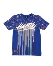 SWITCH - Hustle Drip Splatter Print T-Shirt (8-20)-2544417