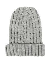 Fashion Lab - Thin Cable Knit Beanie-2544712