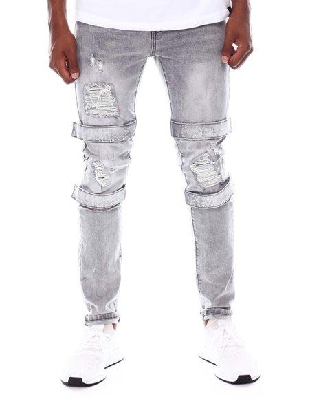 Preme - Preme Crystal Strap Skinny Jean