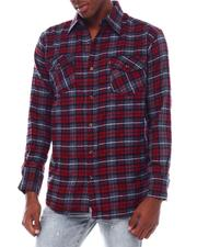 Button-downs - Oversized Plaid Flannel Shirt-2545440