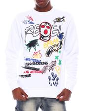 Sweatshirts & Sweaters - Rebel Mask Graffiti Crewneck Sweatshirt-2545468