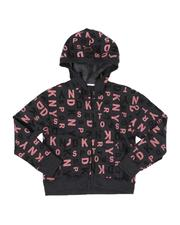 Hoodies - All Over Print Cropped Zip Hoodie (7-16)-2544284