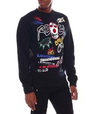 Sweatshirts & Sweaters - Rebel Mask Graffiti Crewneck Sweatshirt-2545510