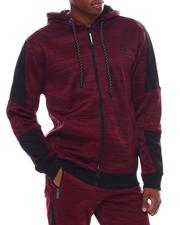 Outerwear - Melange Tech Fleece Zip Hoodie-2545612