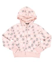 Hoodies - All Over Print Cropped Zip Hoodie (7-16)-2544279