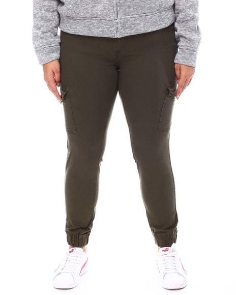 Fashion Lab - Cargo Pocket Stretch Jogger (Plus)