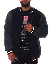 Light Jackets - Color Block Fleece Varsity Jacket (B&T)-2546144
