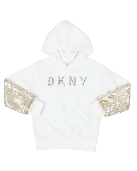 DKNY Jeans - Sequin Sleeve Hooded Popover (7-16)