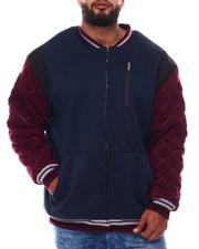 Light Jackets - Color Block Fleece Varsity Jacket (B&T)-2546030