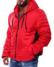 Light Jackets - Puffer Sleeve Hooded Jacket (B&T)-2546058