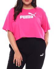 Puma - Ess+ Cropped Logo Tee (Plus)-2545634