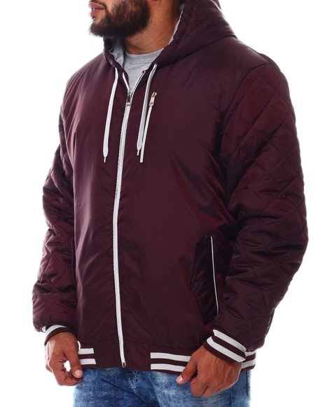 Buyers Picks - Quilted Sleeves Zip Up Hooded Jacket (B&T)