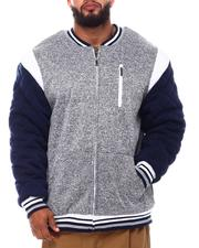 Light Jackets - Color Block Fleece Varsity Jacket (B&T)-2546288