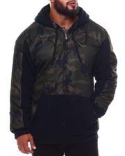 Light Jackets - Camo Fleece Zip Up Hoodie (B&T)-2546300