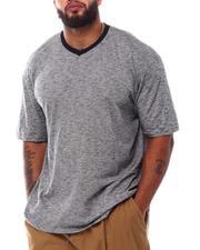 Big & Tall Faves - Contrast Trim V-Neck T-Shirt (B&T)-2544974