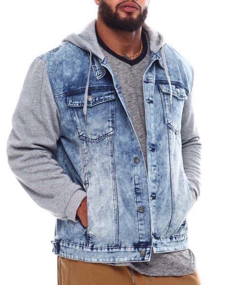 Buyers Picks - Denim Jacket With Fleece Sleeves & Hood (B&T)
