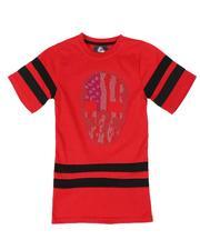 T-Shirts - Americana Rhinestone Skull Tee (6-20)-2544545