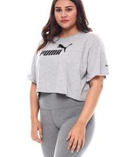 Plus Size - Ess+ Cropped Logo Tee (Plus)-2545660