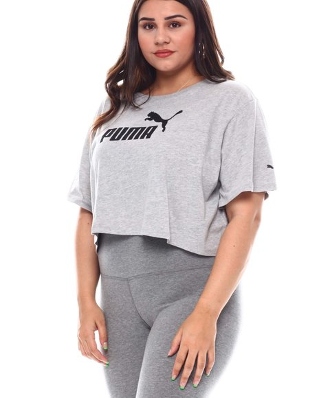 Puma - Ess+ Cropped Logo Tee (Plus)
