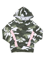 DKNY Jeans - Logo Tape Camo Fleece Hoodie (7-16)-2545411