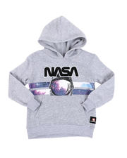 Hoodies - Southpole x NASA Chenille Patch Pullover Hoodie (4-7)-2546511