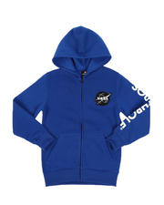 Southpole - Southpole x NASA Full Zip Fleece Hoodie W/ Embroidery Patch (8-20)-2546516