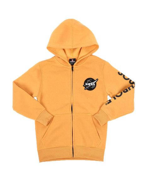 Southpole - Southpole x NASA Full Zip Fleece Hoodie W/ Embroidery Patch (8-20)