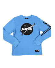 T-Shirts - Southpole x NASA Chenille Patch Long Sleeve Tee (8-20)-2546531